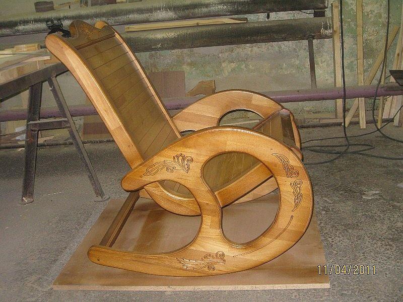 Кресло-качалка из дерева чертежи