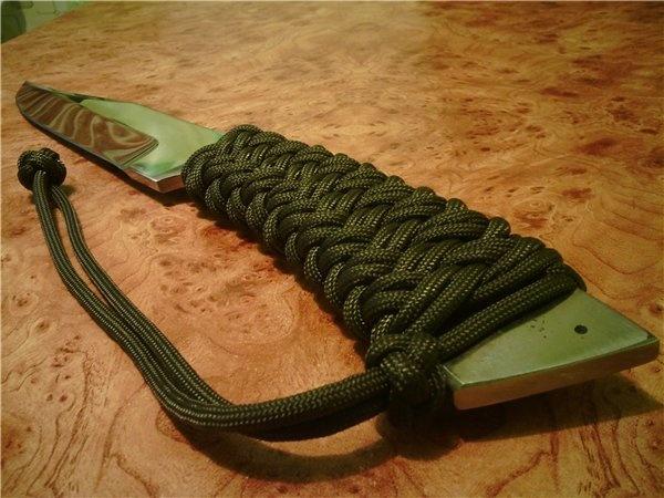 Как сделать ручку на нож из веревки