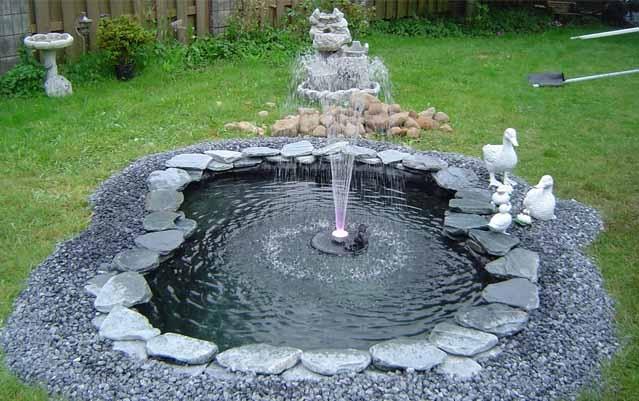 Пруд с фонтаном своими руками на даче