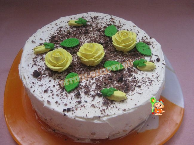 Простой вкусный торт детский