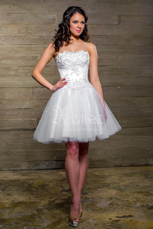 Фото пышные короткие свадебные платья