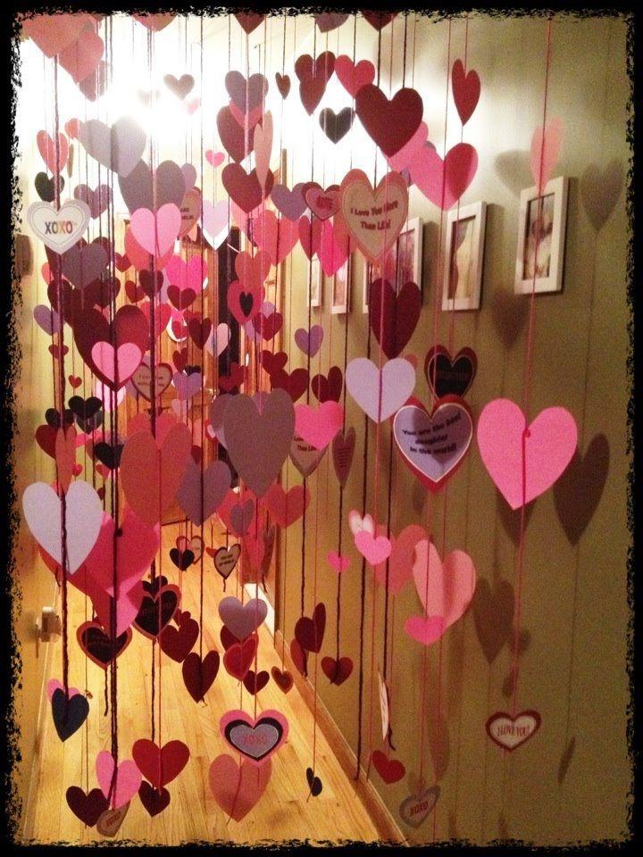 Как украсить комнату на день всех влюбленных своими руками