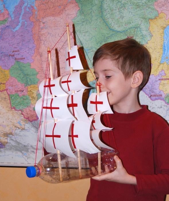 Корабли из бутылок пластиковых