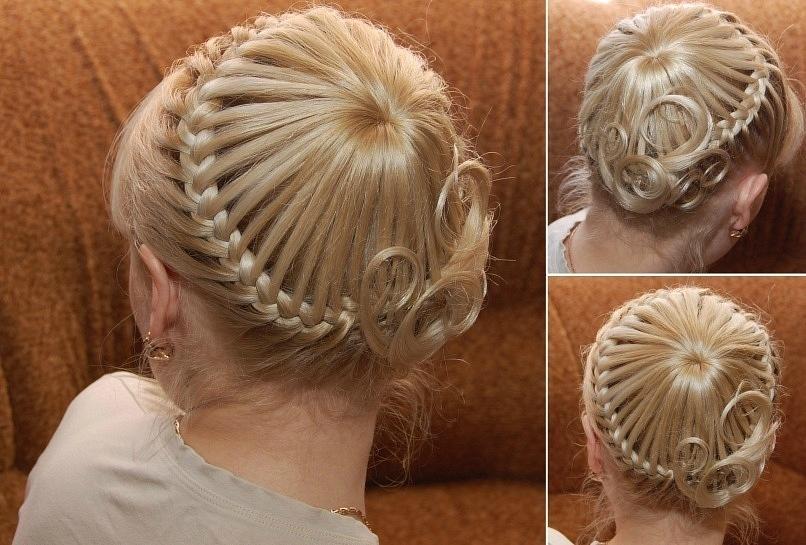 Прически на короткие волосы красивое плетение