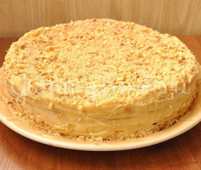 Торт наполеон пошаговый рецепт с фото со сгущенкой