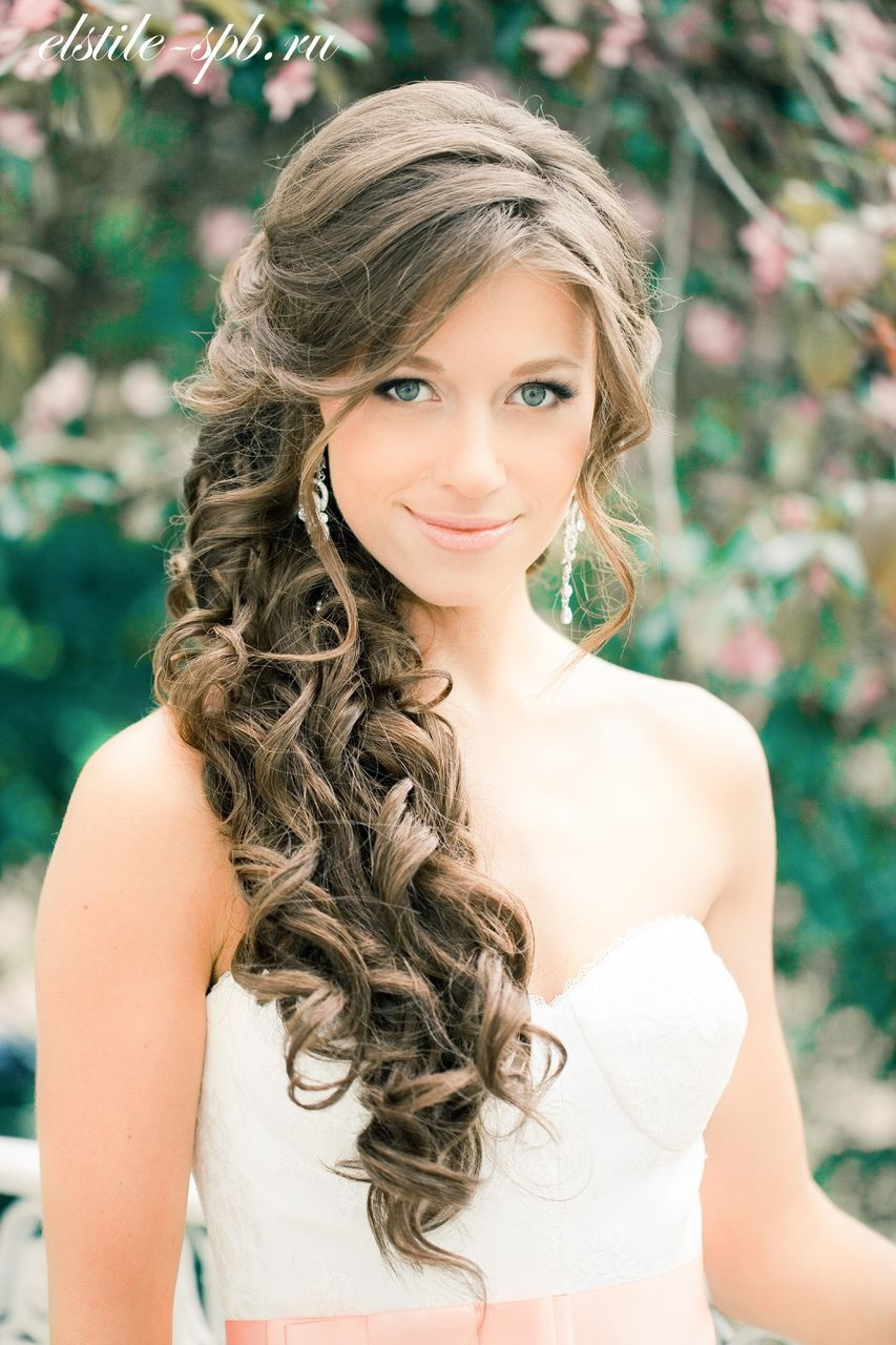 Прическа кудри на свадьбу