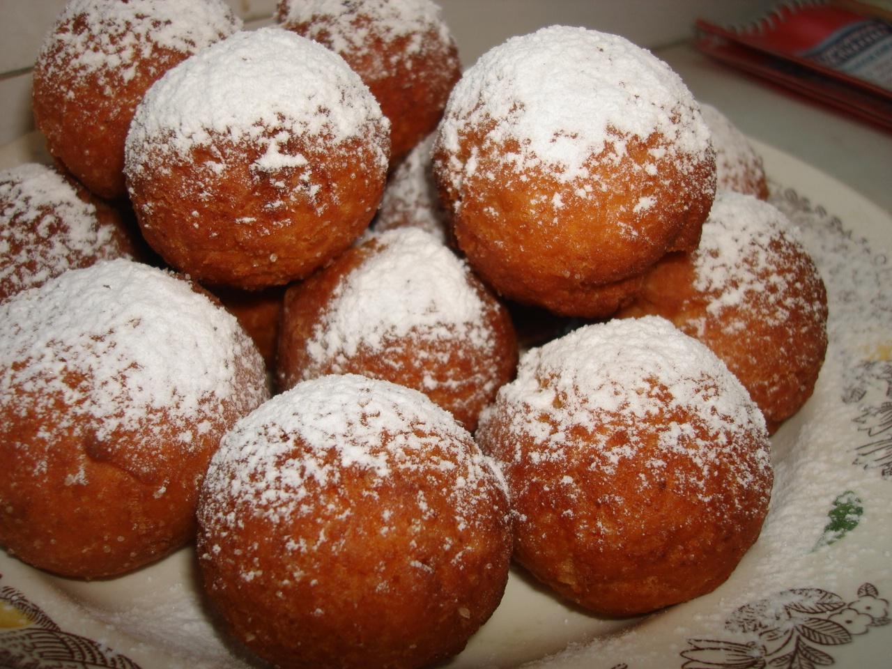 Пончики с начинкой фото