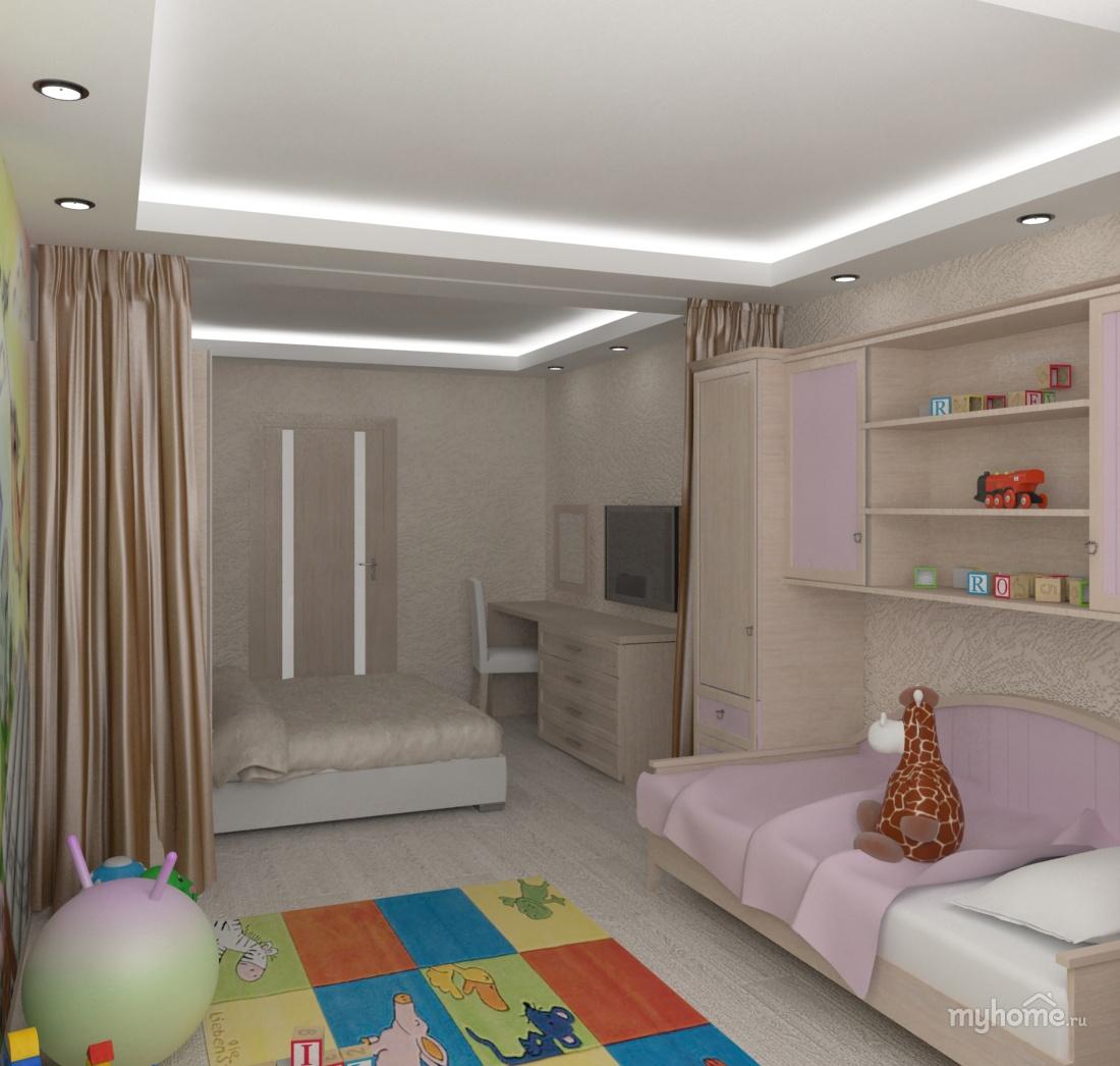 1 комнатная квартира для семьи с ребенком дизайн