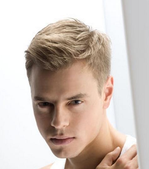 Модные мужские стрижки на светлые волосы
