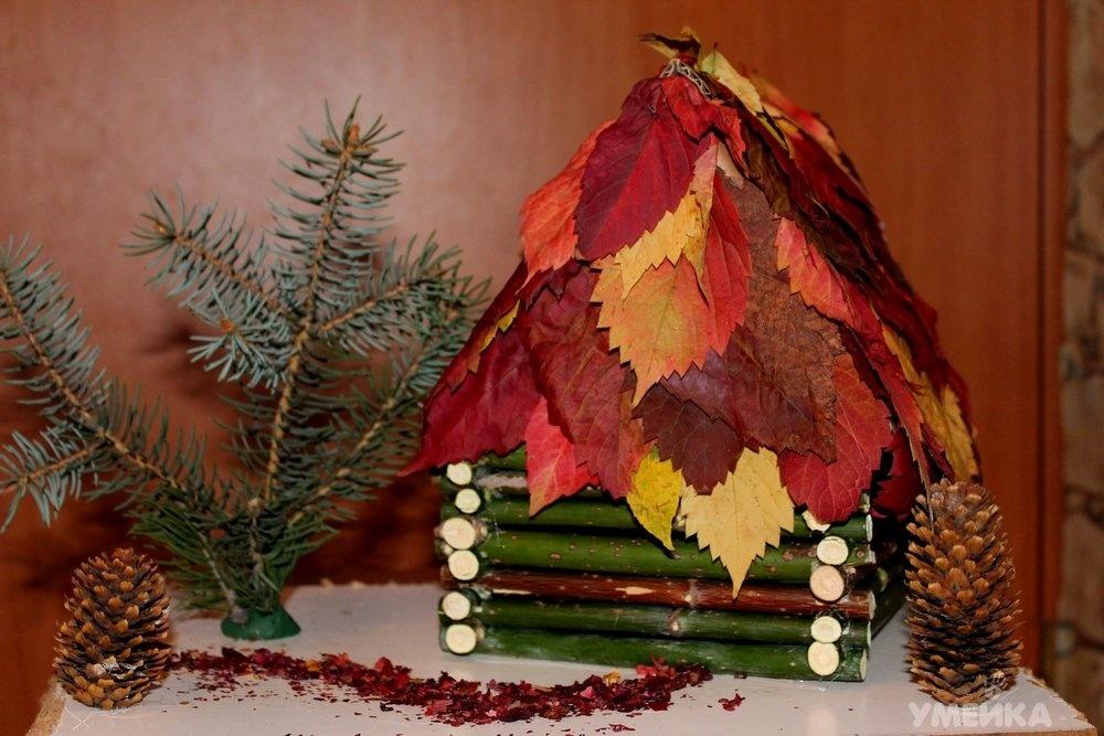 Поделки своими руками на тему осень из природного материала