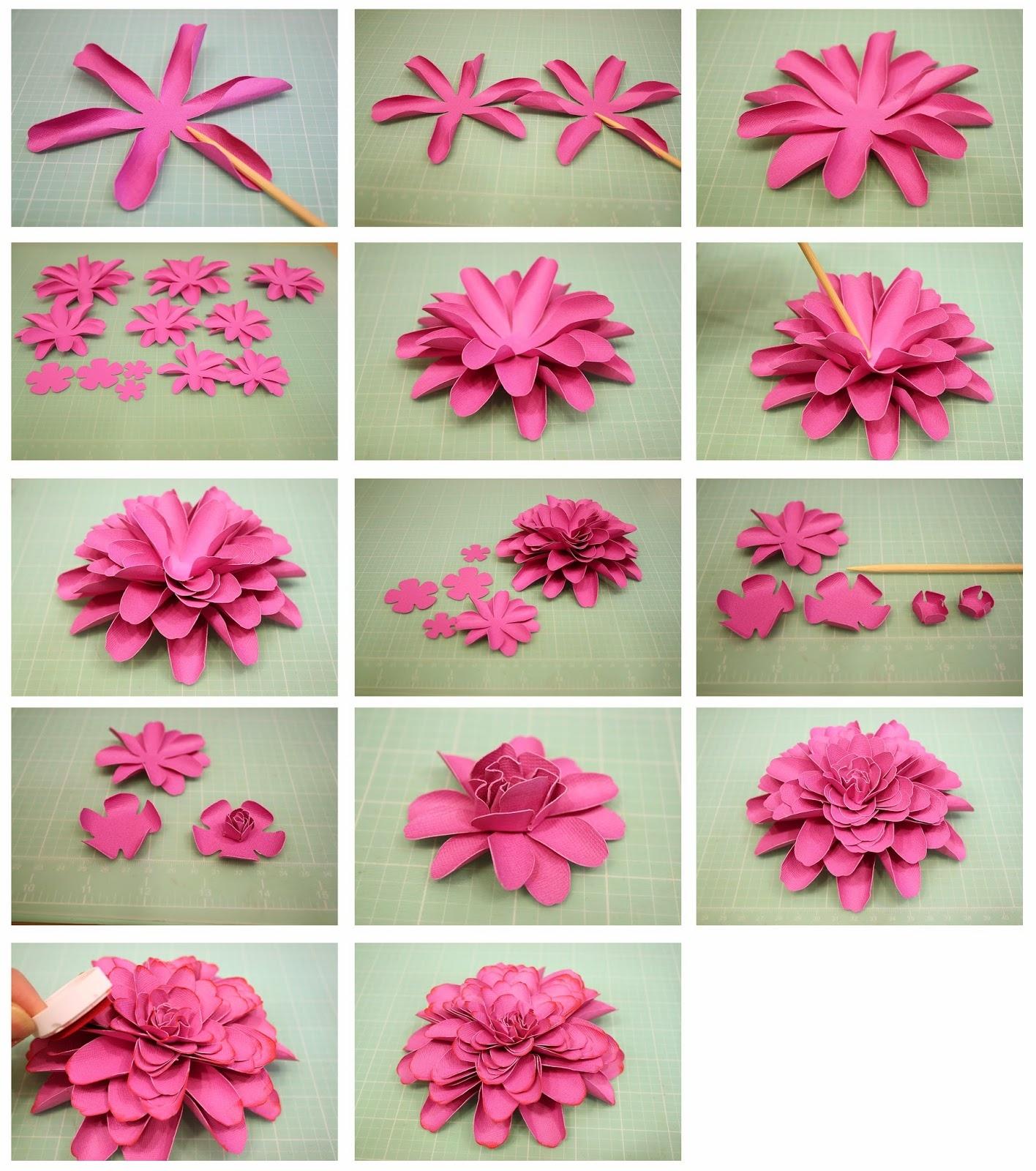 Как сделать объемные цветок из бумаги