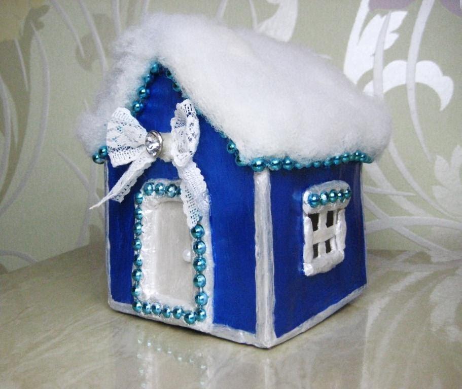 Как сделать домик новогодние поделки