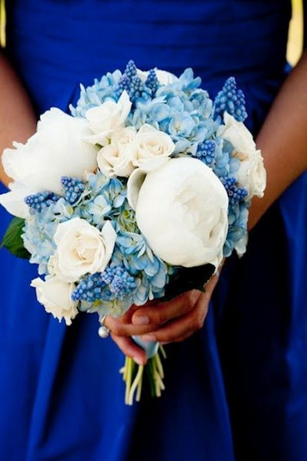 Синие цветы для свадебного букета