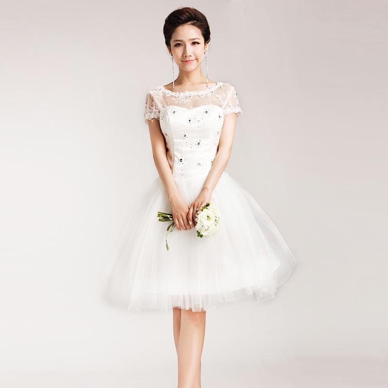 Свадебные платья с пышной короткой юбкой