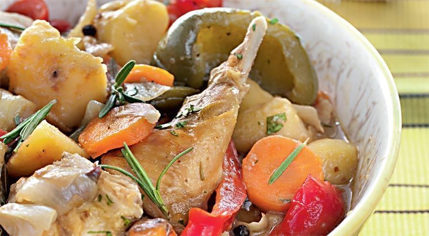 Кролик с овощами в мультиварке рецепты с фото пошагово