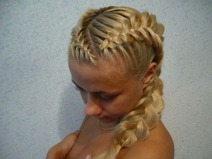 Плетение кос косой пробор