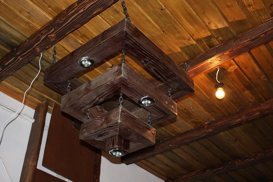 Светильники своими руками деревянные