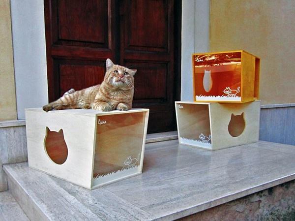 Домик из фанеры для кошки своими руками