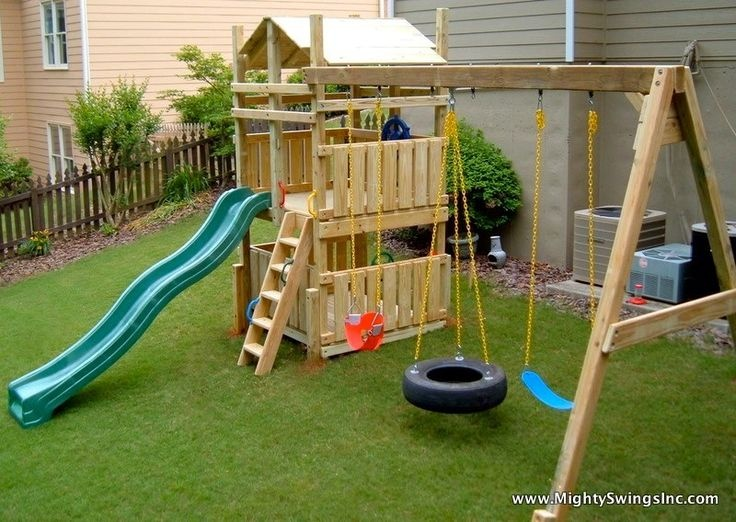 Как сделать простую детскую площадку