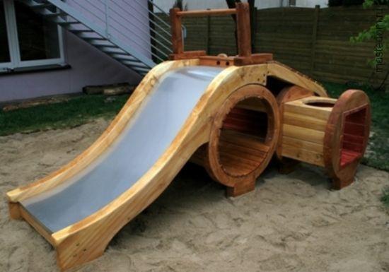 Как деревянную горку сделать скользкой