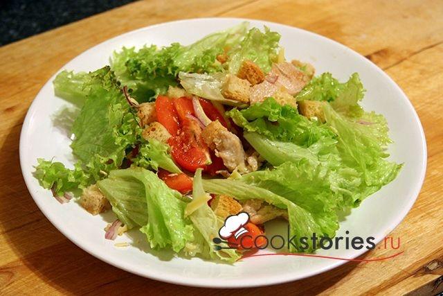 Салат цезарь с курицей соус с фото