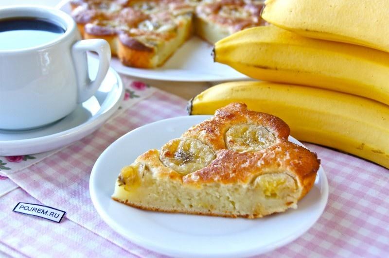 Пирог с бананами простой рецепт с пошагово
