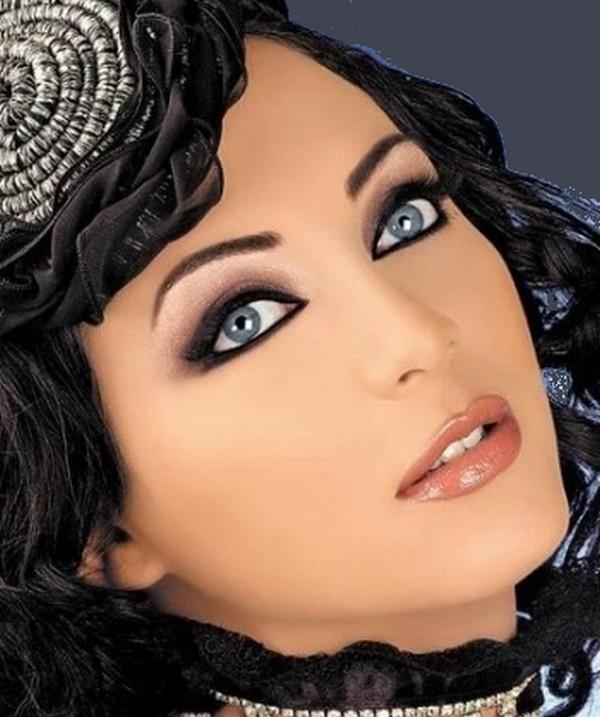 Вечерние макияжи для голубоглазых