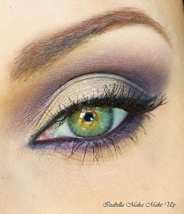 Макияж для желто зеленых глаз
