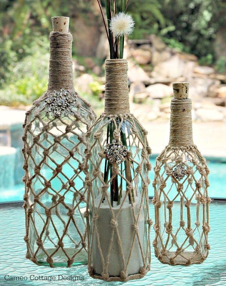 Декор бутылок морская тематика