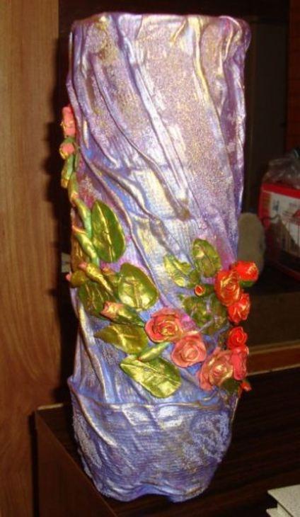 Как сделать напольную вазу своими руками для цветов