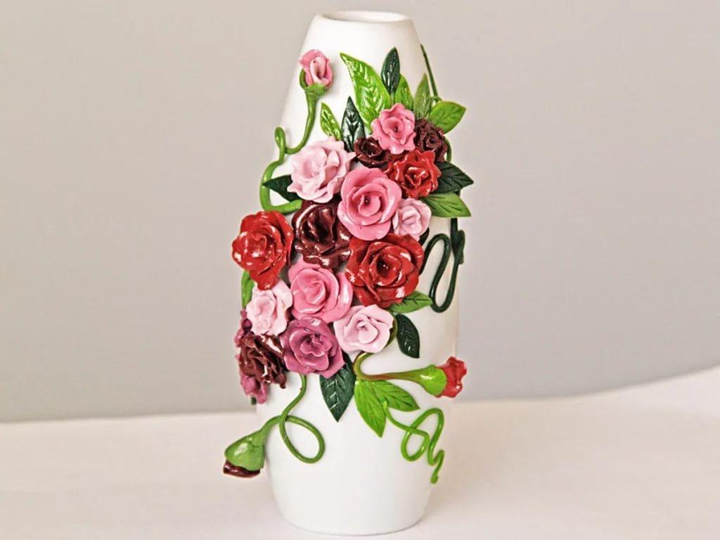 Чем украсить вазу цветами своими руками