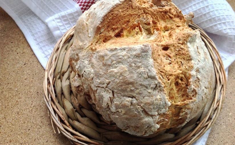 Полезный хлеб без дрожжей на кефире
