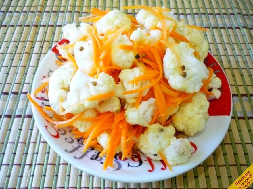 Салат из цветной капусты рецепты по корейски