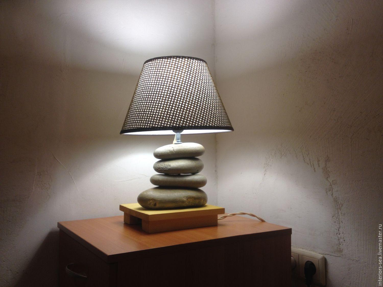 Своими руками светильник из камней