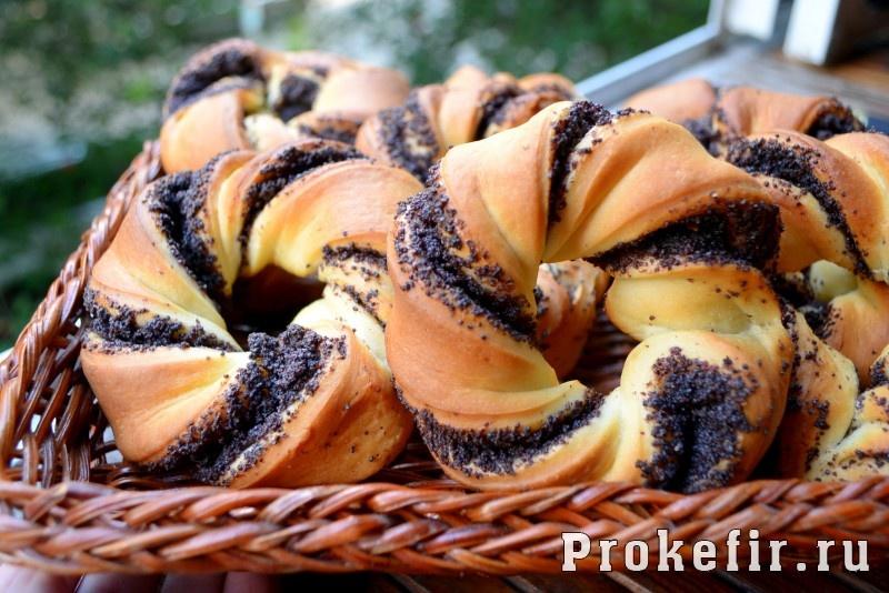 Сладкие булочки из дрожжевого теста с маком рецепты с пошагово