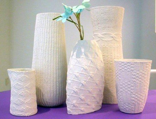 декорирование вазы тканью своими руками