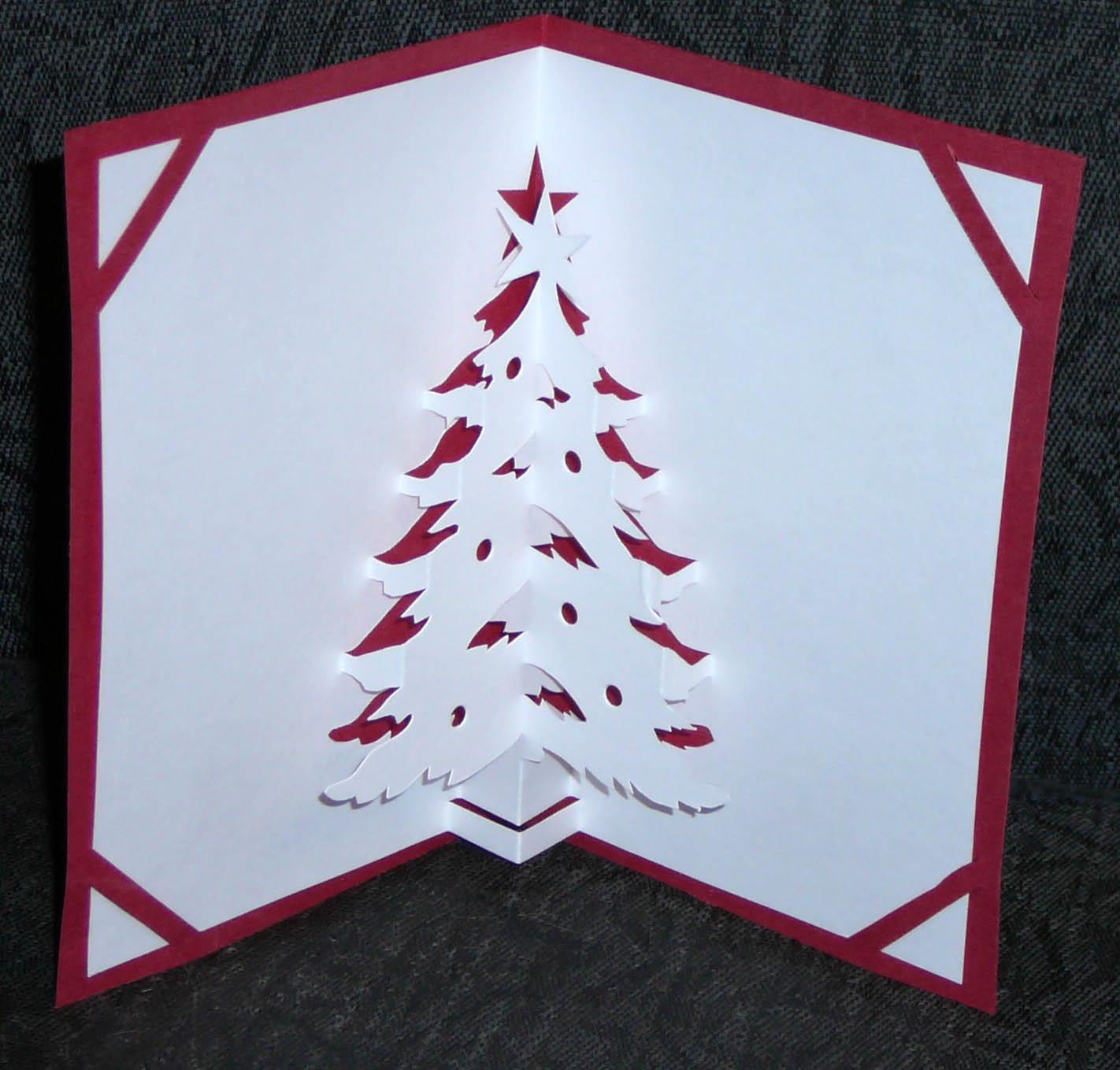Шаблоны объемные новогодние открытки своими руками