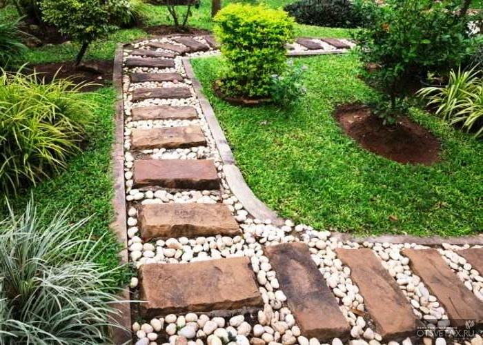 Садовые дорожки с малыми затратами из бетона
