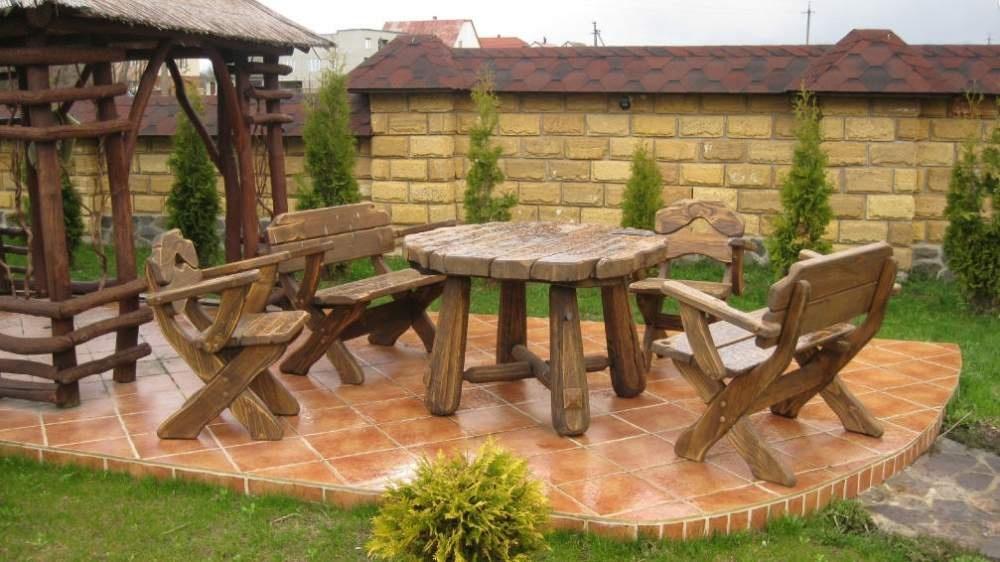 Изготовление садовой мебели своими руками из дерева