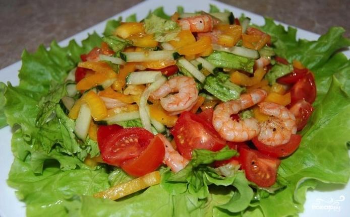Самый вкусный салат из креветок рецепт очень вкусный пошаговый