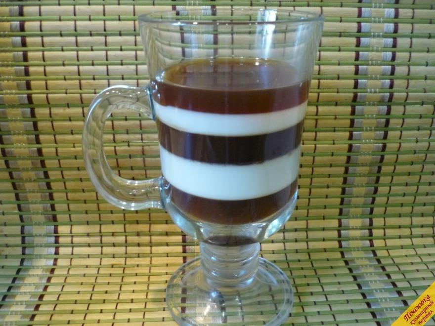 Рецепт желе молочно кофейное