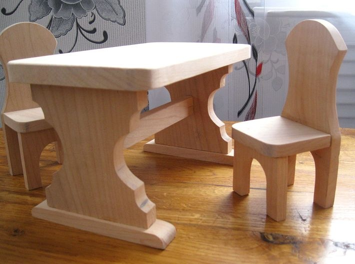 Сделать своими руками дерева стол и стулья