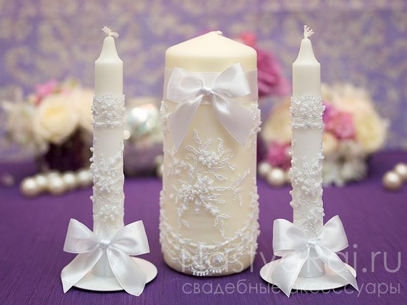 Свадебные свечи как украсить