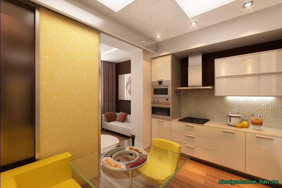 Дизайн светлой кухни 9 кв