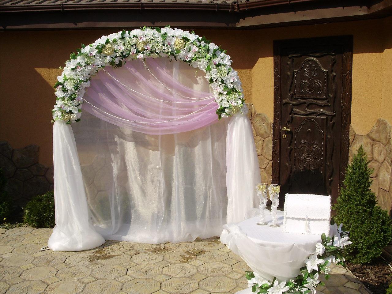 Украшения арки для свадьбы своими руками
