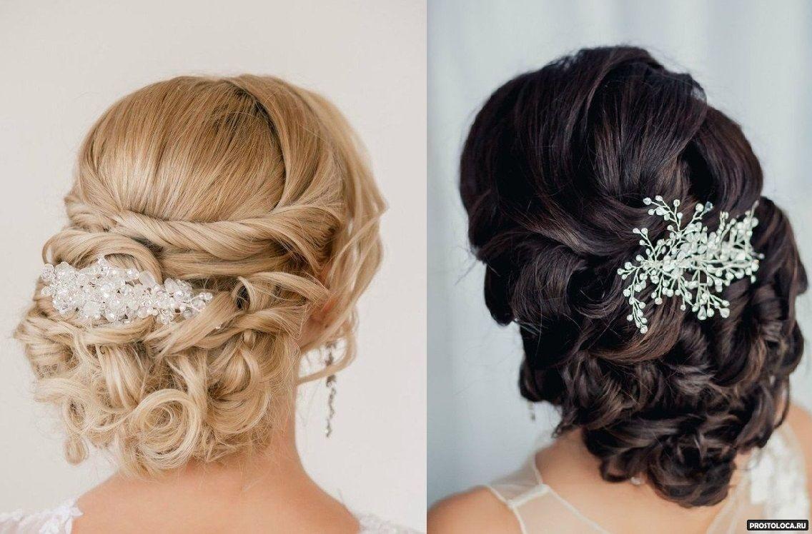 Прически для свадьбы средние волосы