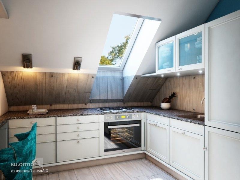 Кухня в мансарде