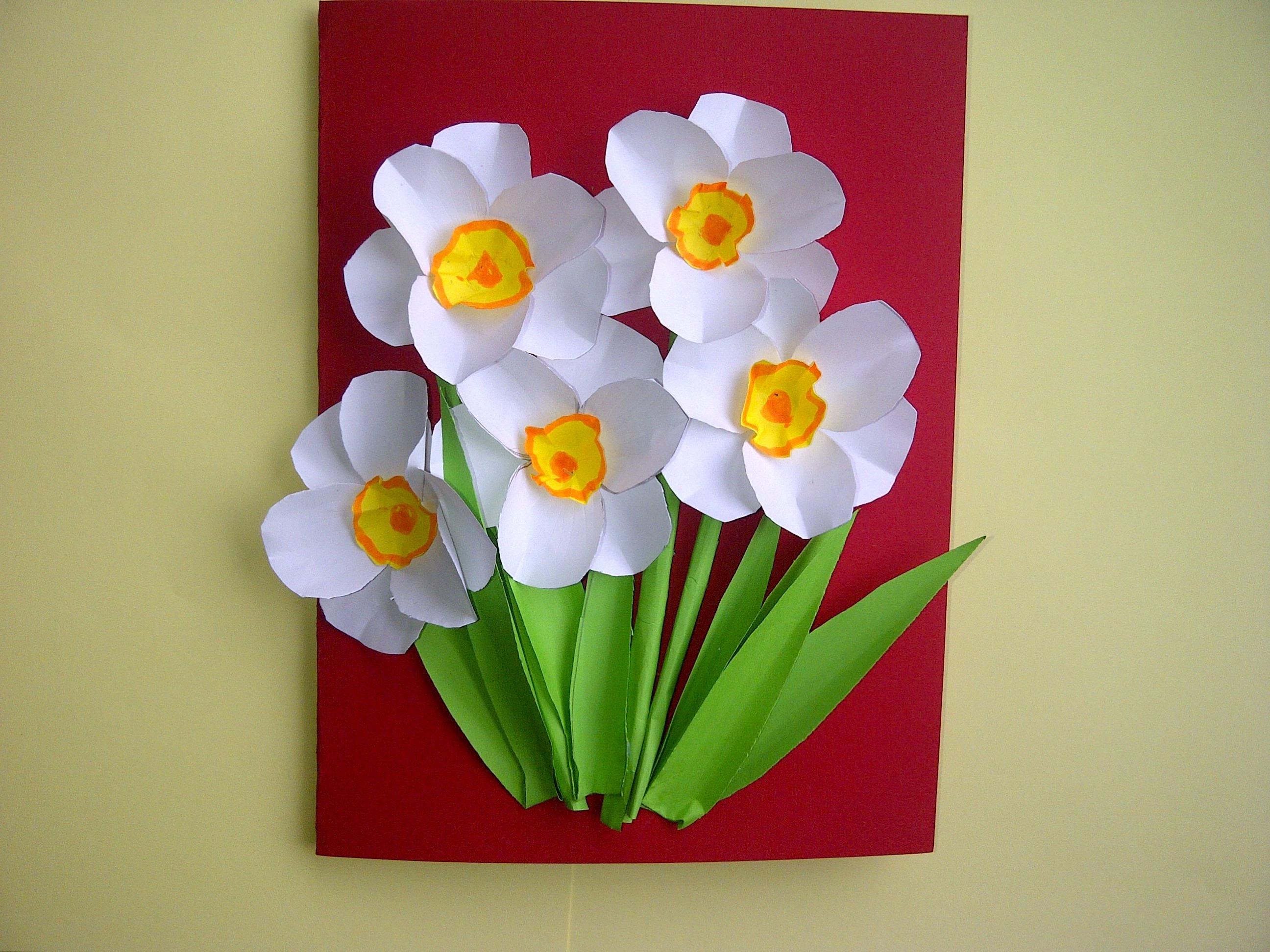 Как сделать поздравительную открытку с цветами (нарциссами) - карточка от пользователя r.chaykivska в Яндекс.Коллекциях