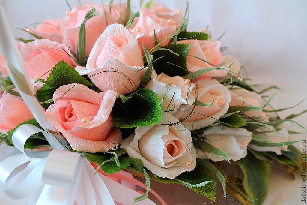 Букет из конфет своими руками пошагово розы