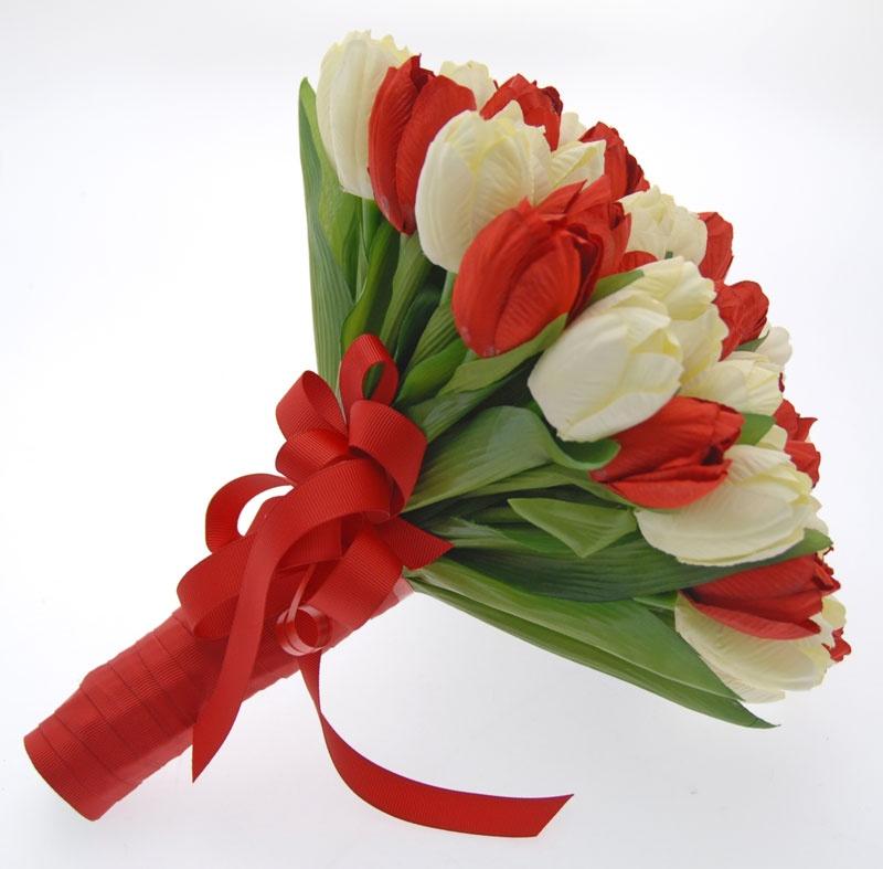 Букет из тюльпан своими руками